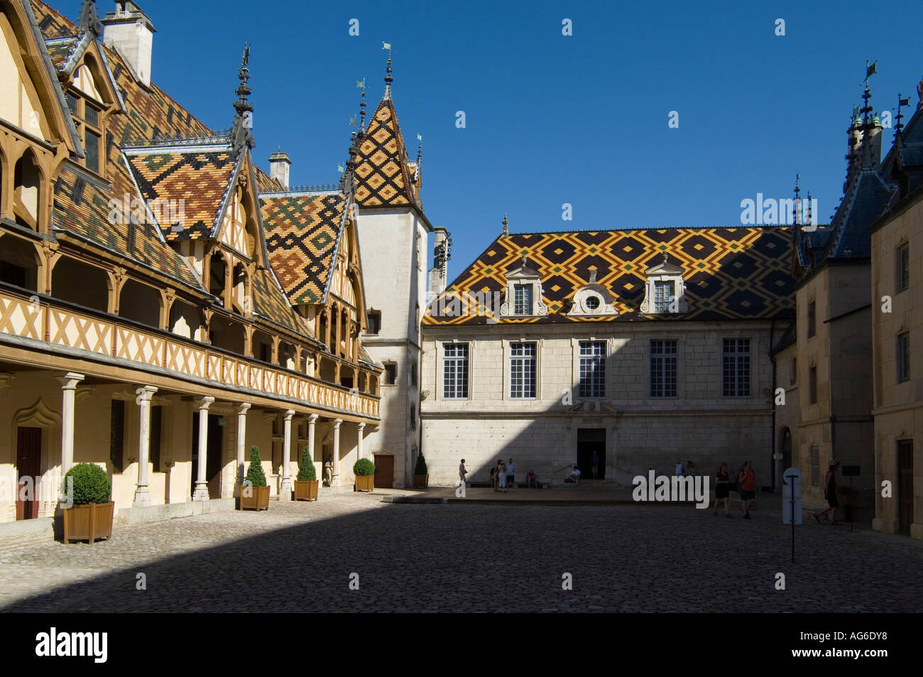 Beaune Hotel Hospices De Beaune Hotel Dieu Burgundy France Stock Photo