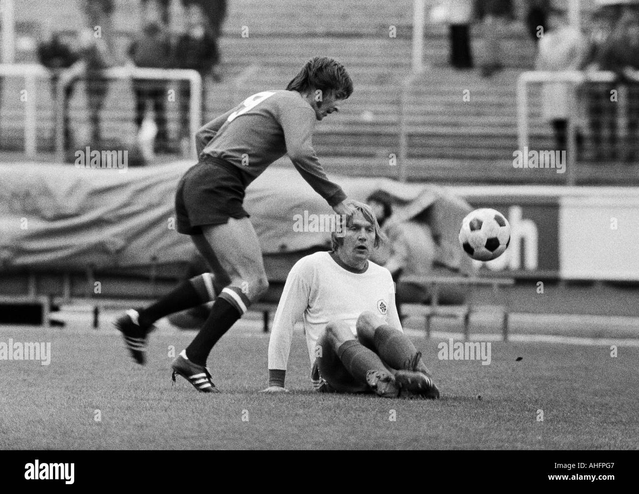 Football Bundesliga 1972 1973 Rot Weiss Oberhausen Versus Stock Photo Alamy