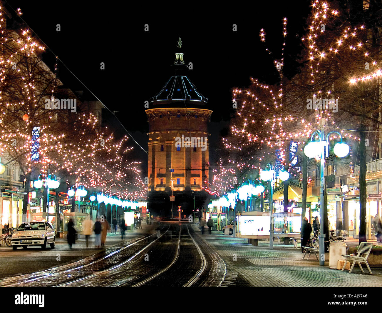 Mannheim Germany The City Of Mannheim Germany By Night Stock Photo 1218373