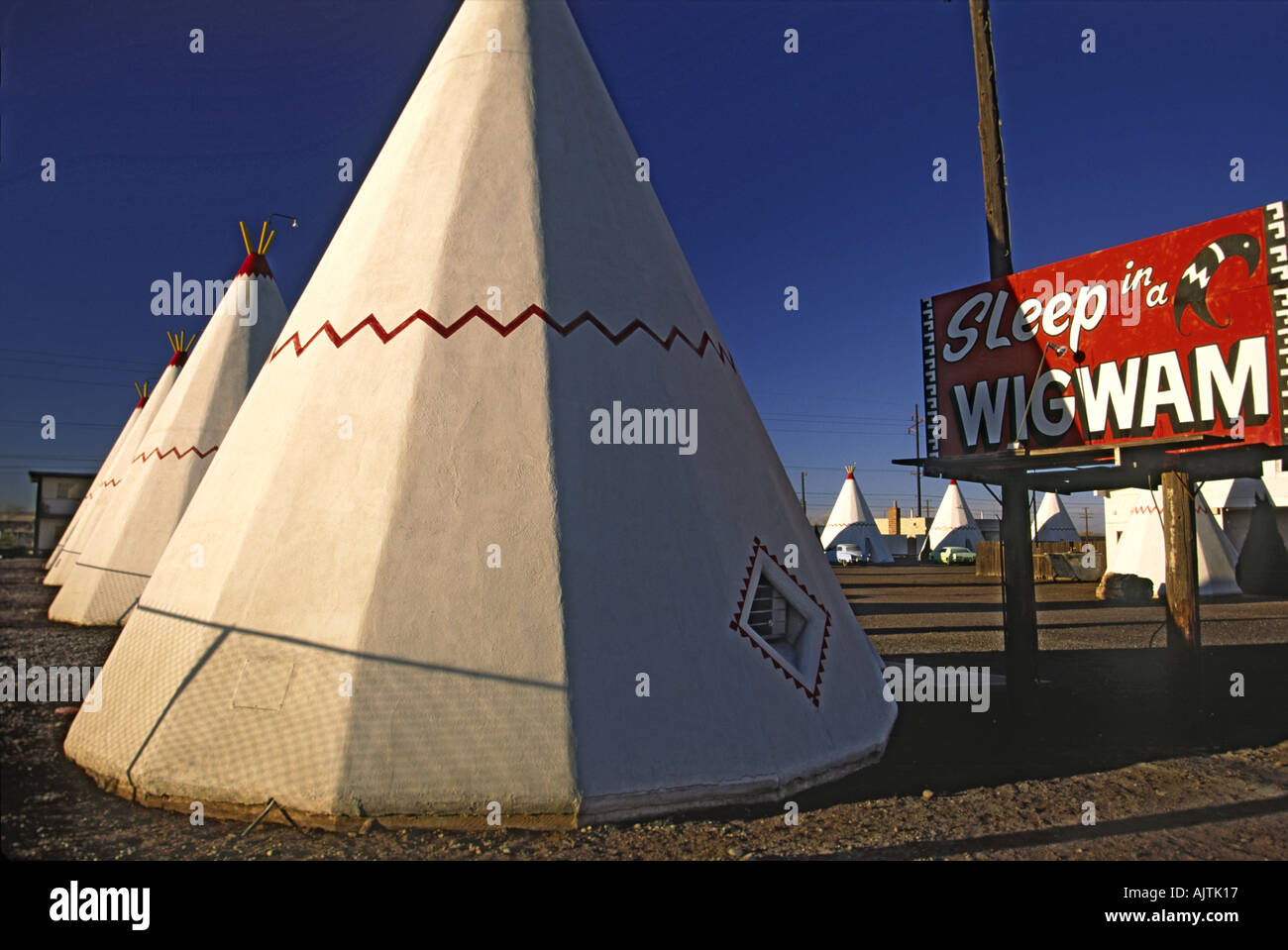 Concrete Rooms Teepee Shaped Concrete Rooms At Wigwam Motel On Route 66 In