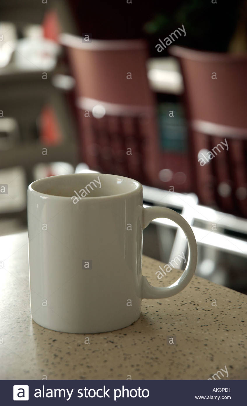 Mug A Cafe Mug Of Tea On A Cafe Table Stock Photo 4856528 Alamy