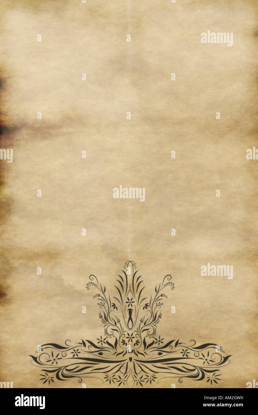 Regal Design Regal Style Design Printed On Old Paper Stock Photo - Alamy