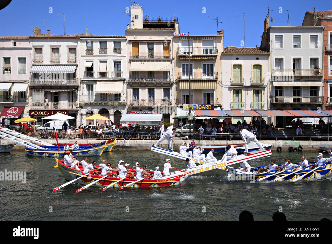 Royal Meubles France Water Tournament On The Canal Royal Sete Herault France Stock