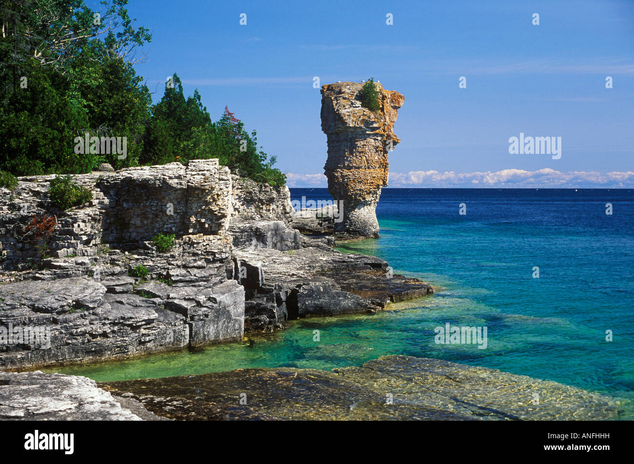Live Wallpaper Fall Hd Flowerpot Island Fathom Five National Marine Park