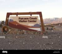 Furnace Creek Visitor Center Sign, Death Valley National ...