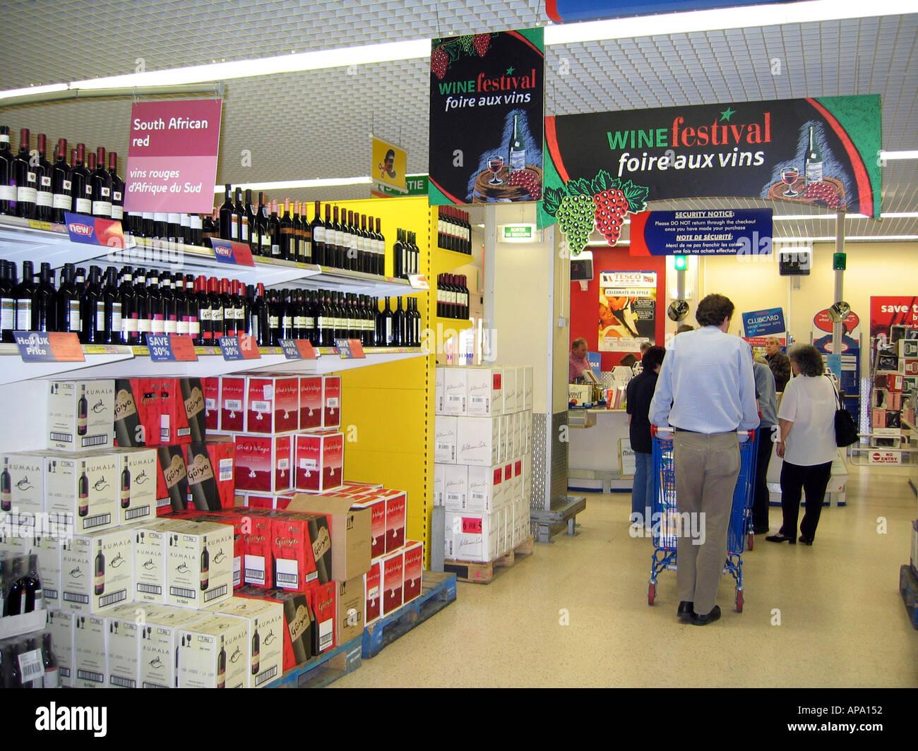 Tesco Supermarket Wine Stock Photos Tesco Supermarket