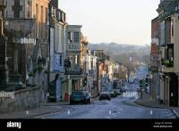 dorchester high street dorset england town centre Stock