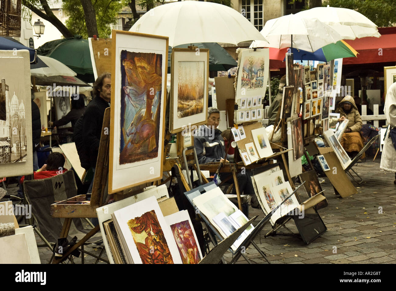 Art Paris Paris Montmartre Art Stock Photos And Paris Montmartre Art