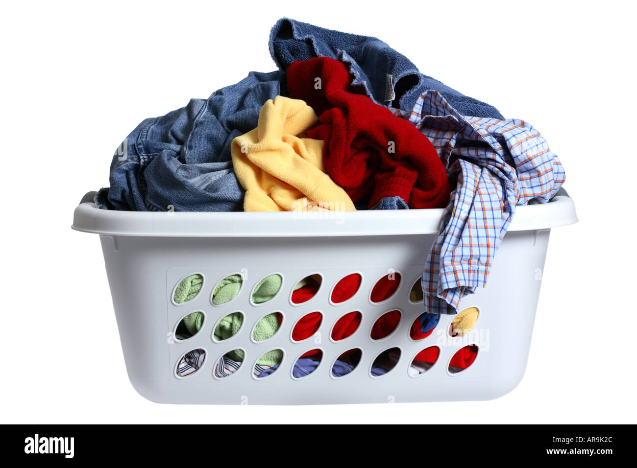 Dirty Laundry Baskets Laundry Basket Full Of Dirty Clothes Stock Photo Royalty