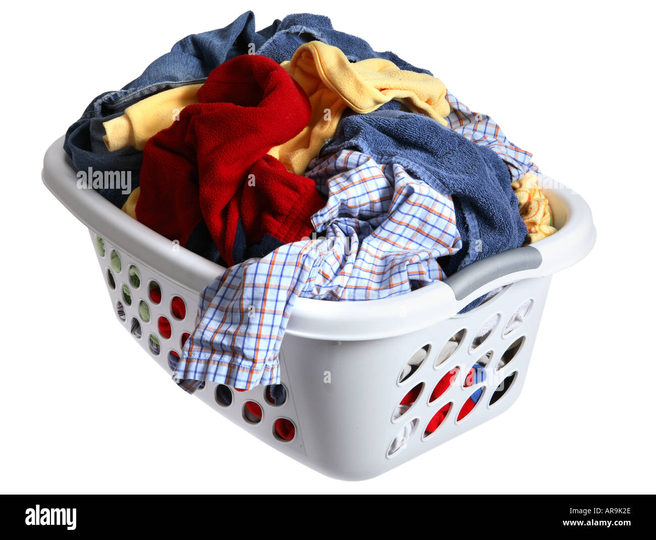 Clothes Baskets Laundry Basket Full Of Dirty Clothes Stock Photo 5218093