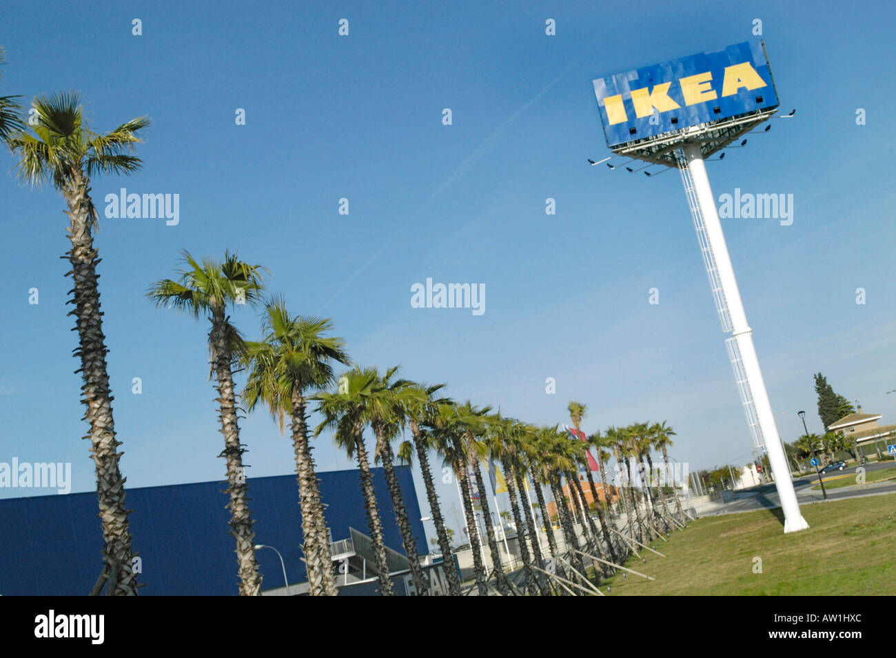 Ikea Palm Tree Ikea Spain Sevillia Andalusia Logo With Palmtrees Stock Photo