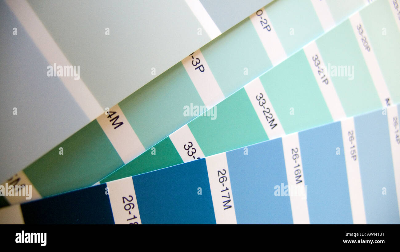 Palettes Décoration Colour Painting Palettes For Interior Decoration Stock Photo