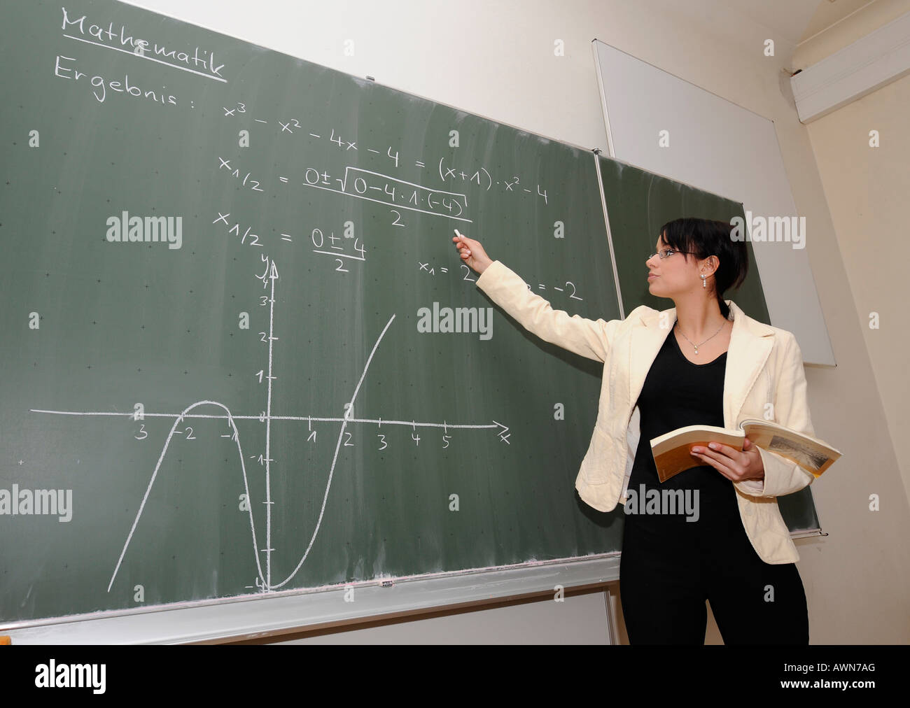 Teaching Maths Young Female Teacher Teaching Maths Stock Photo 16620135 Alamy