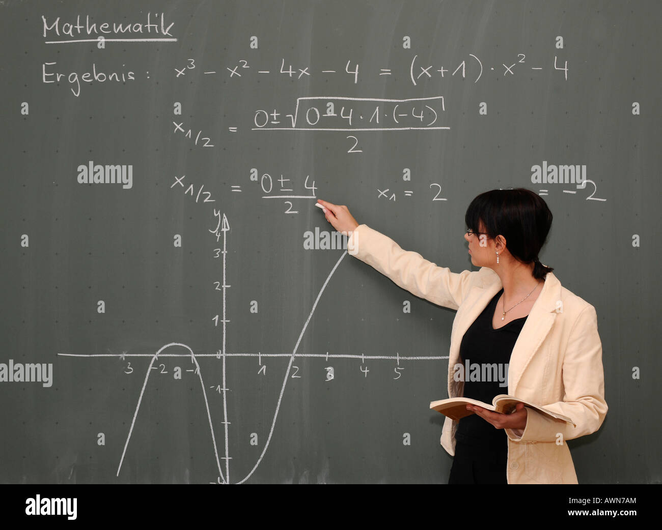 Teaching Maths Young Female Teacher Teaching Maths Stock Photo 16620139 Alamy