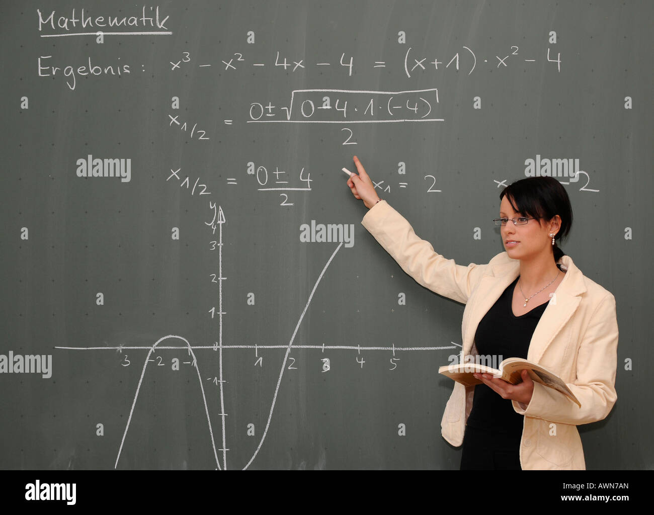 Teaching Maths Young Female Teacher Teaching Maths Stock Photo 16620140 Alamy
