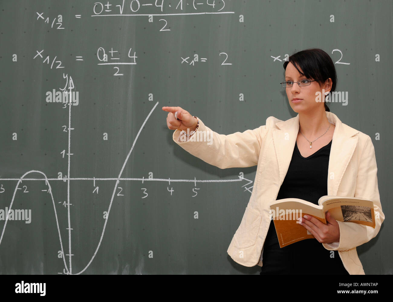 Teaching Maths Young Female Teacher Teaching Maths Stock Photo 16620141 Alamy