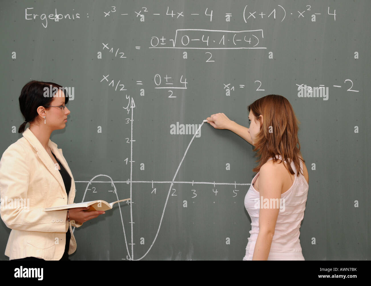Teaching Maths Young Female Teacher Teaching Maths Stock Photo 16620150 Alamy