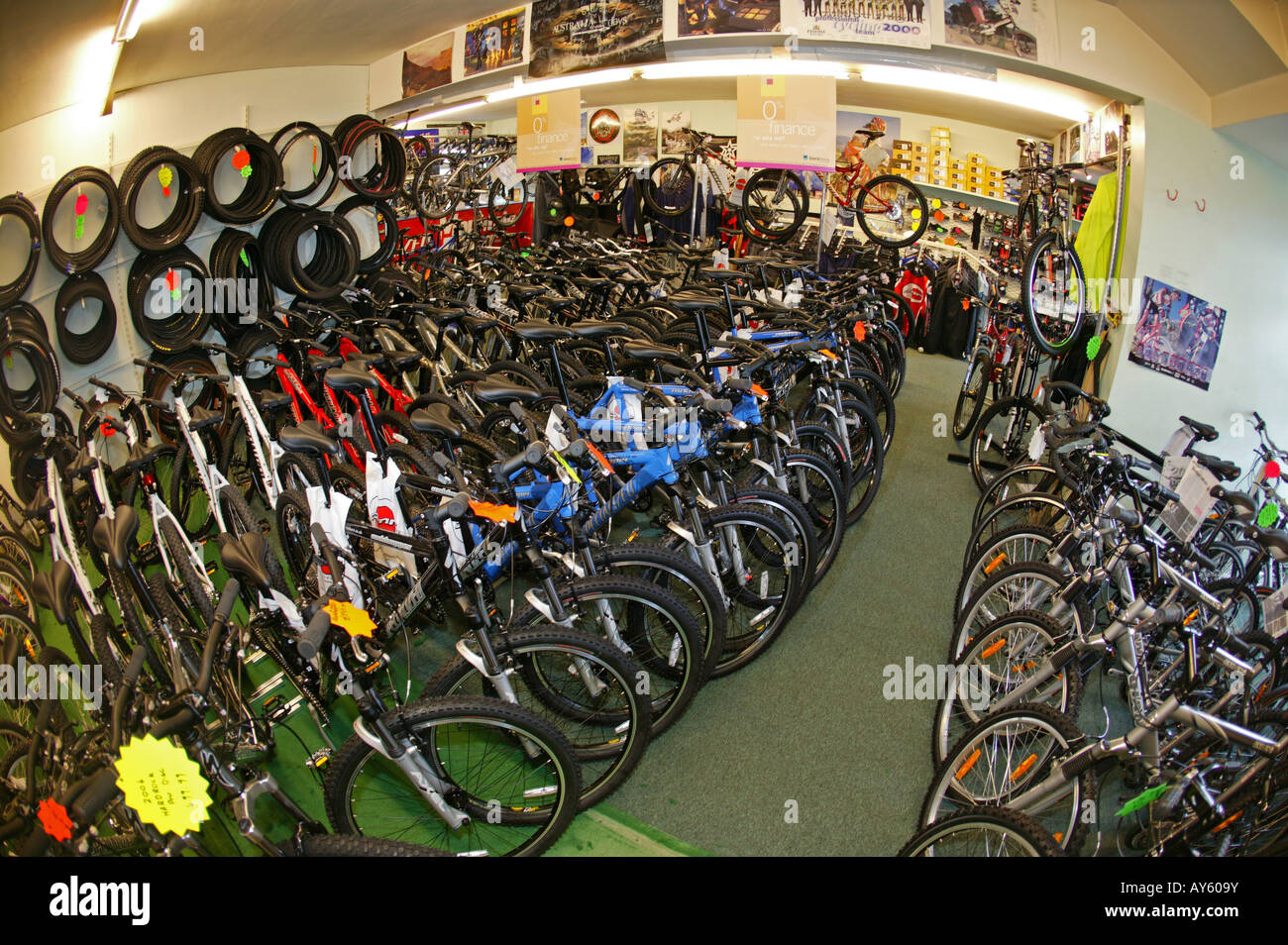 Mount Bike Shop The Interior Of A Bike Shop Full Off Mountain Bikes Stock Photo