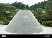 Gravel mound in Japanese rock garden Stock Photo, Royalty ...