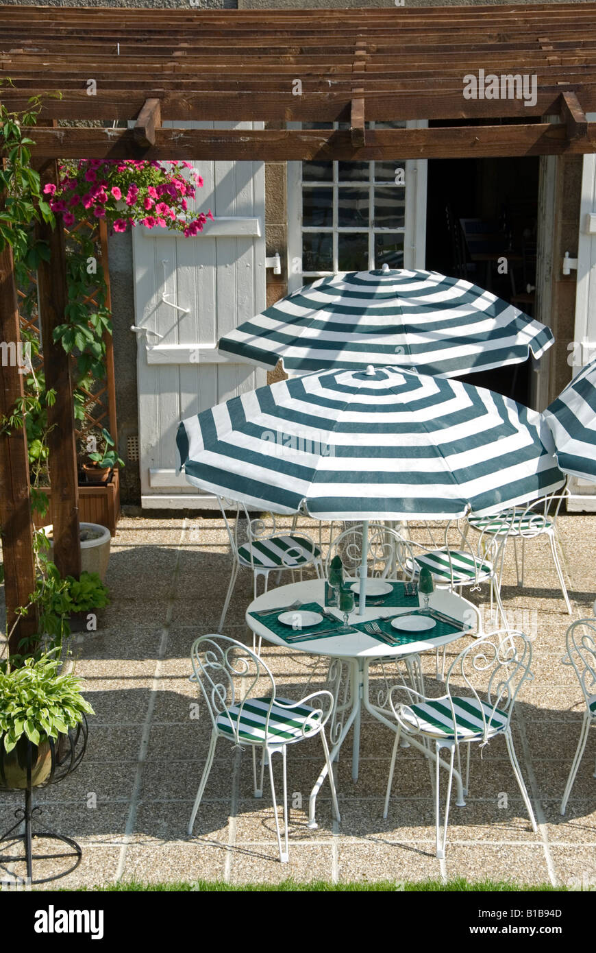 Chambre D Hote Seville Stock Photo Of Restaurant Tables Outside Of A Chambre D Hotes In