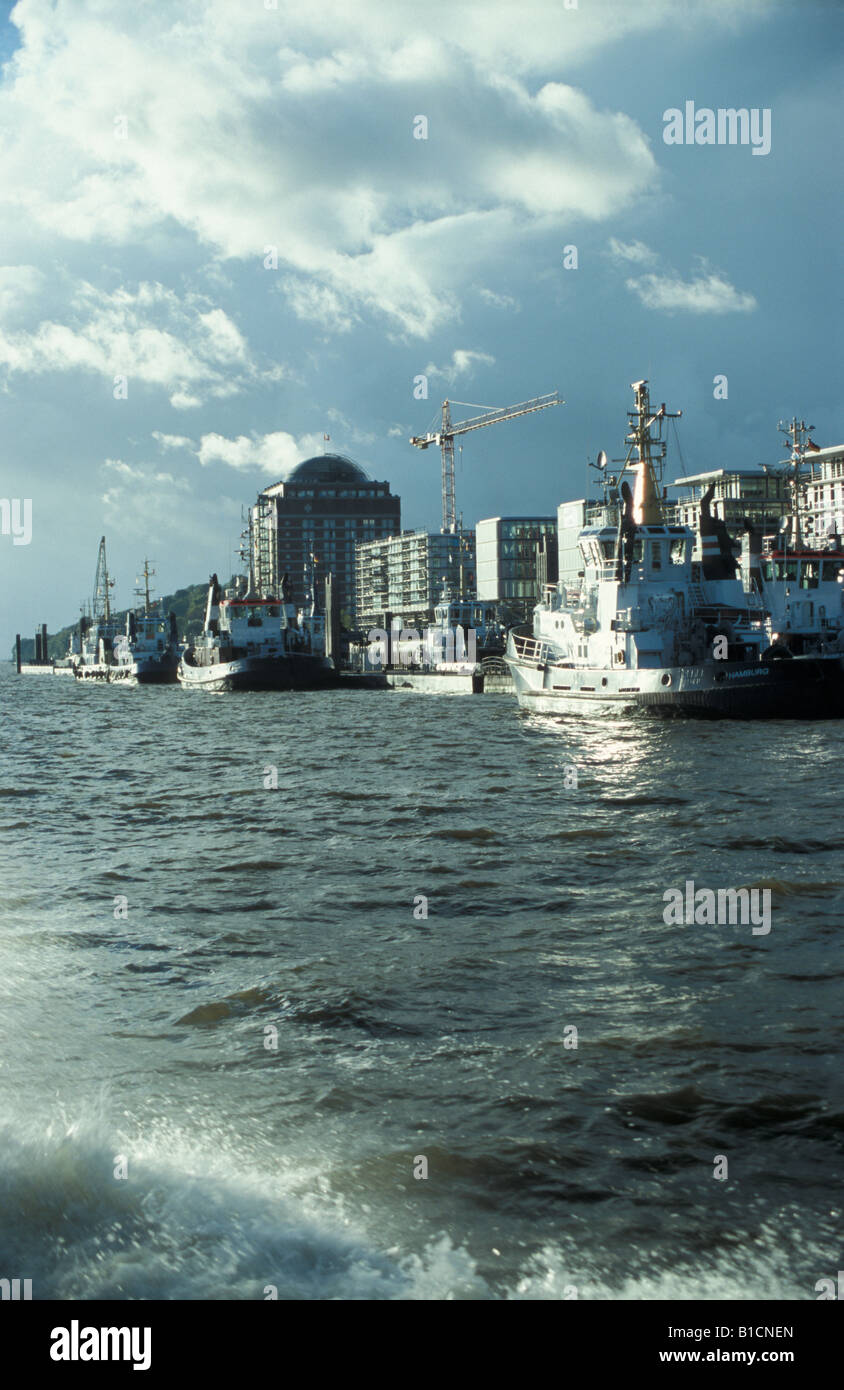 Home Office Hamburg Tugboat Station In The Harbour Of Hamburg Modern Office