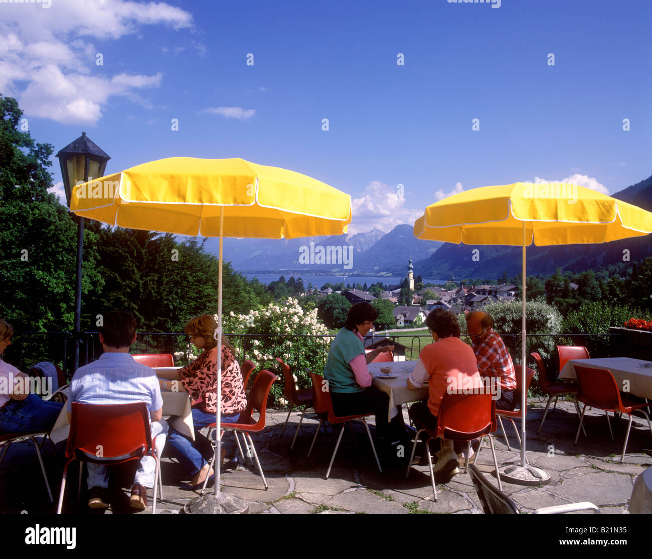 Haus Am Hang Austria Colourful View Of Wolfgangsee From Cafe Haus Am Hang Above