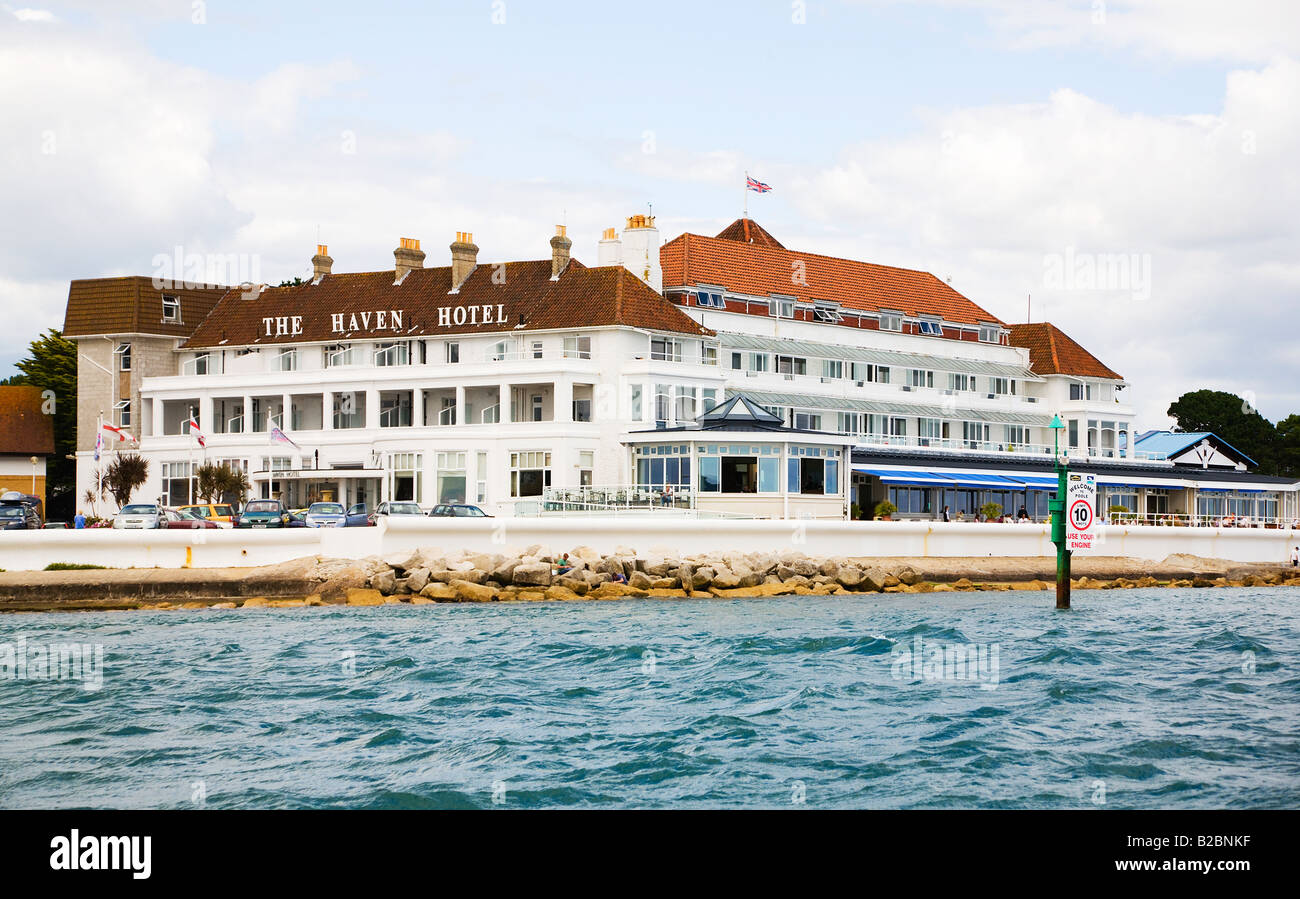 Bed And Breakfast Poole Harbour The Haven Hotel Sandbanks Poole Dorset Uk Stock Photo