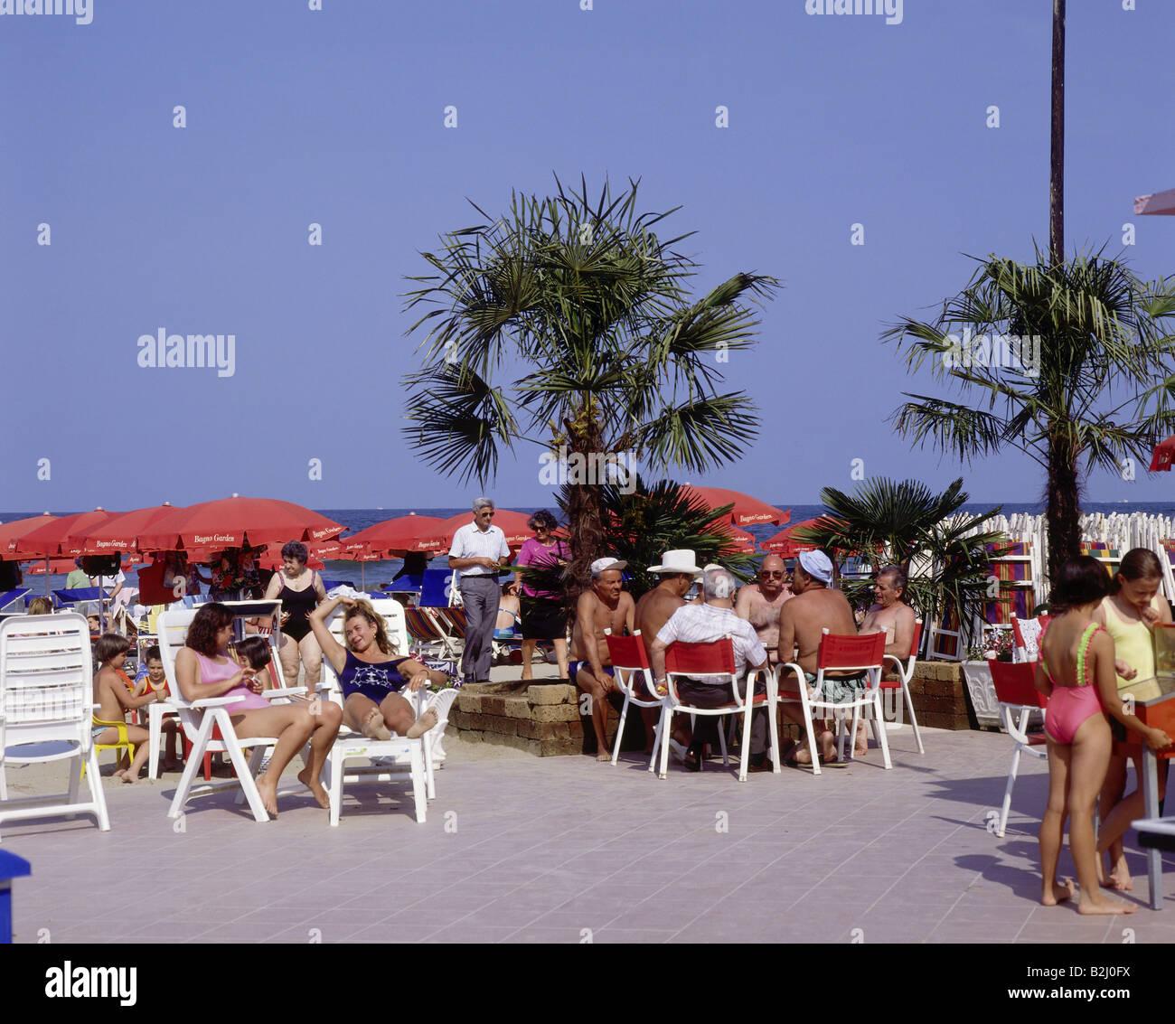 Bagno Florida Cesenatico Promenade Tourists Stock Photos Promenade Tourists Stock