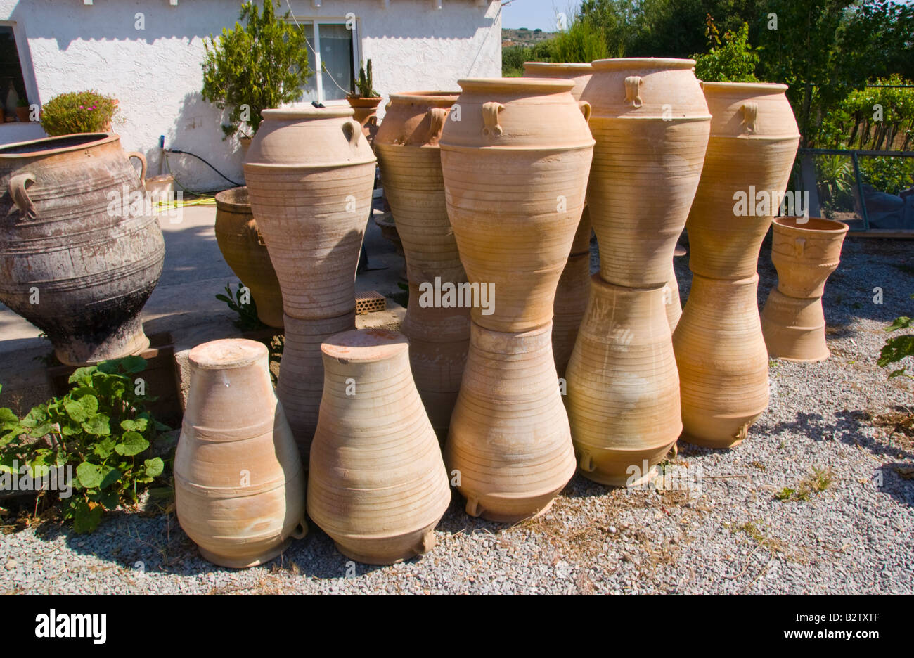 Planters For Sale Online Finished Pots For Sale At Pottery In Thrapsano On The