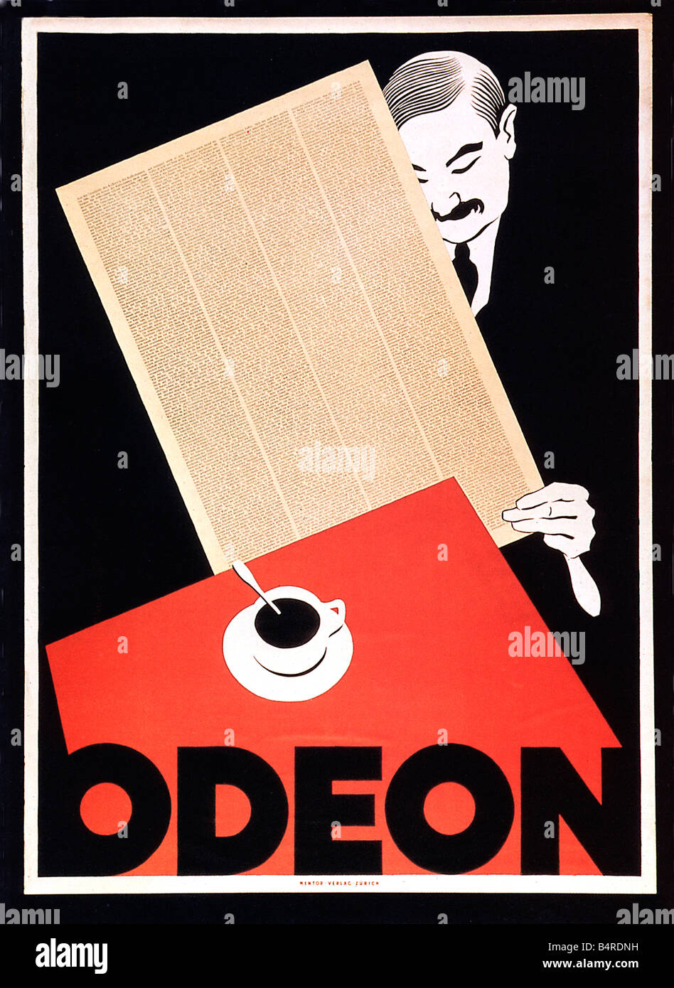 Deco Poster Cafe Odeon Zurich 1920 Art Deco Poster For The Swiss Cafe An