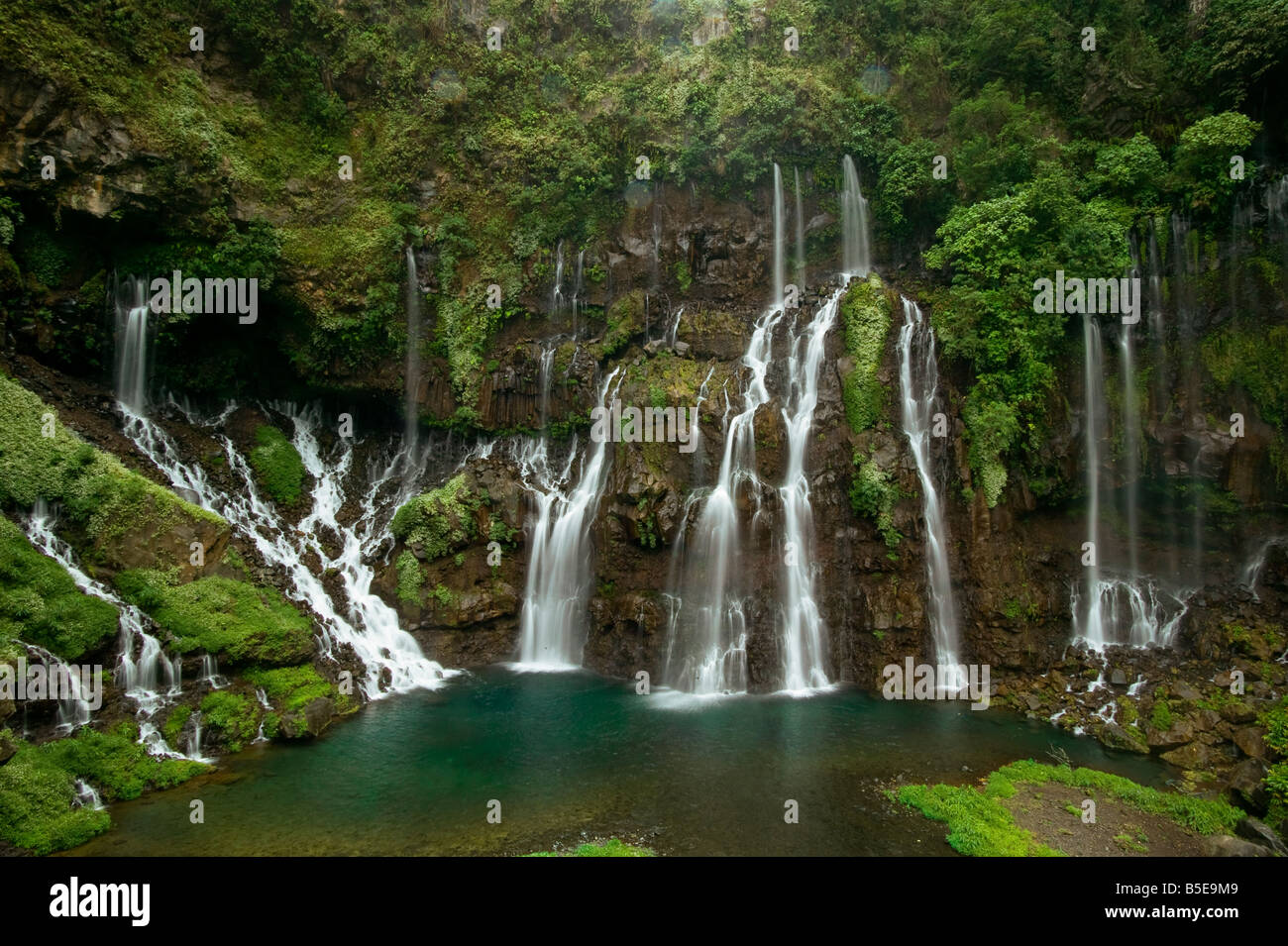 Reunion Island Waterfalls Of Langevin Reunion Island Stock Photo 20598601 Alamy