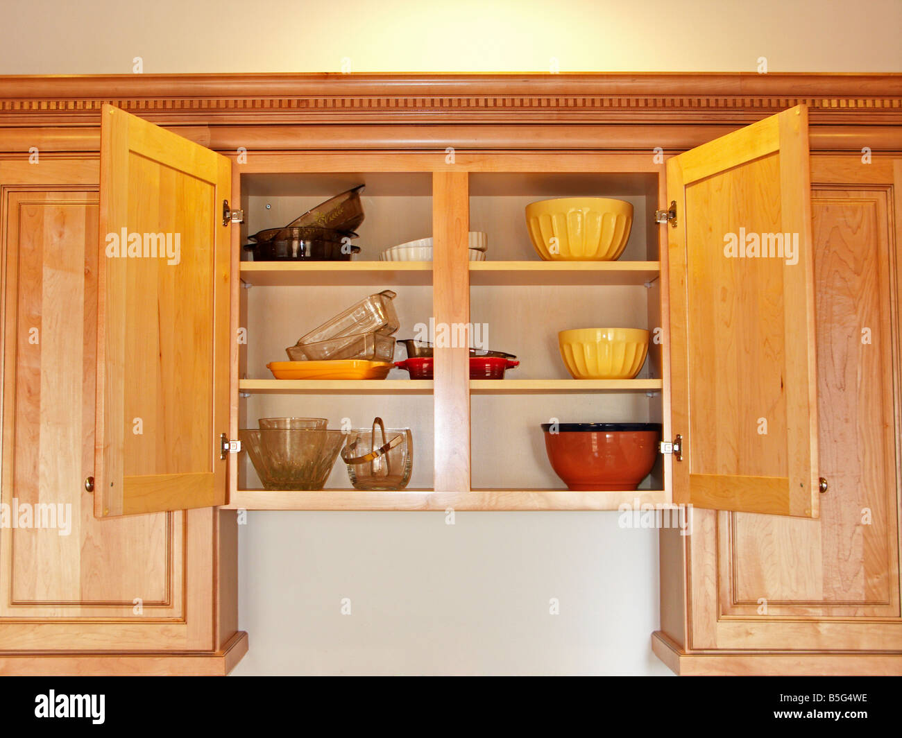 Open Cabinet Open Kitchen Cabinet Stock Photo 20638730 Alamy