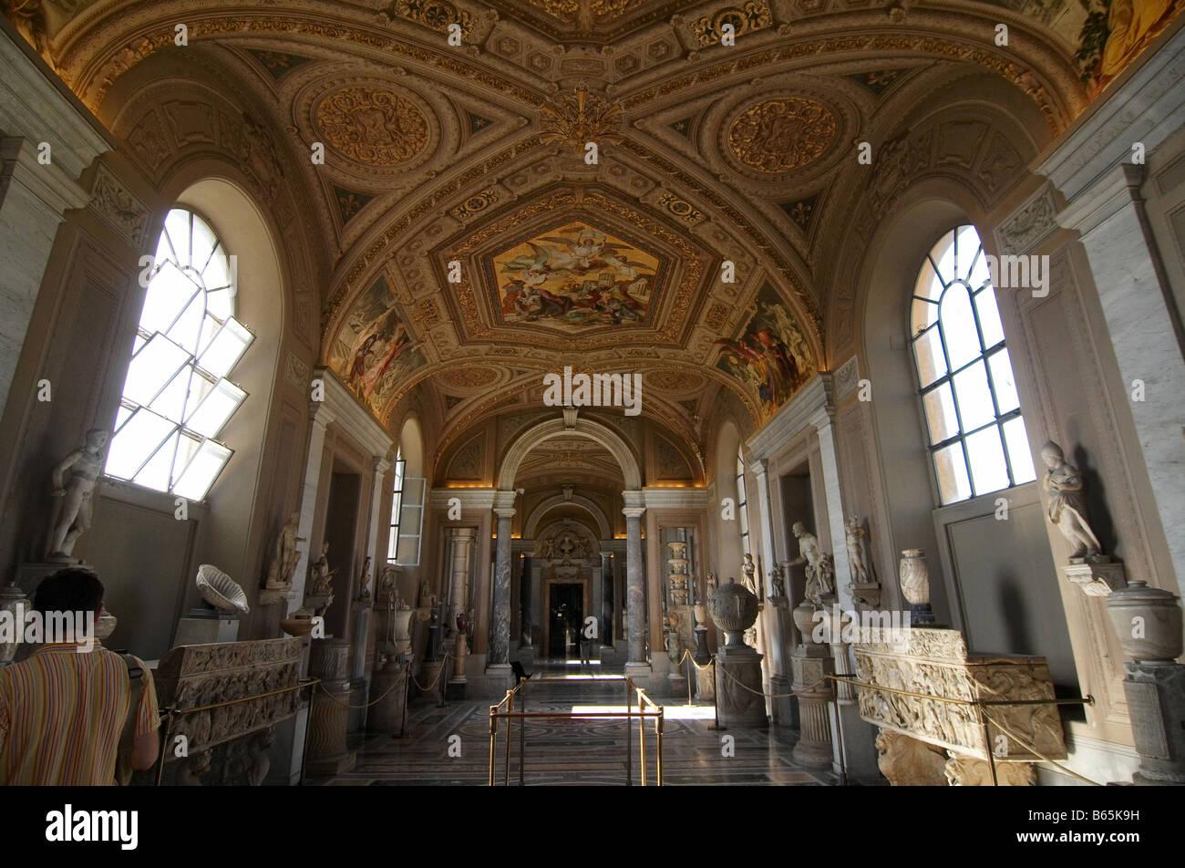 Sistine Chapel Ceiling Painted Michelangelo Stock Photos