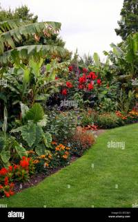 A TROPICAL BORDER WITHIN AN ENGLISH COUNTRY GARDEN. RHS ...