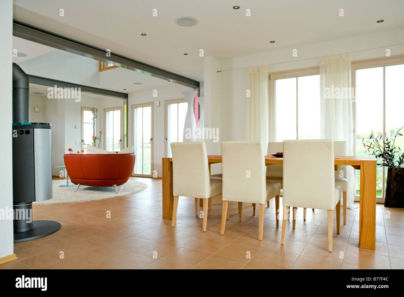 Modernes Esszimmer Modernes Esszimmer Modern Dining Room Stock Photo 21678508 Alamy
