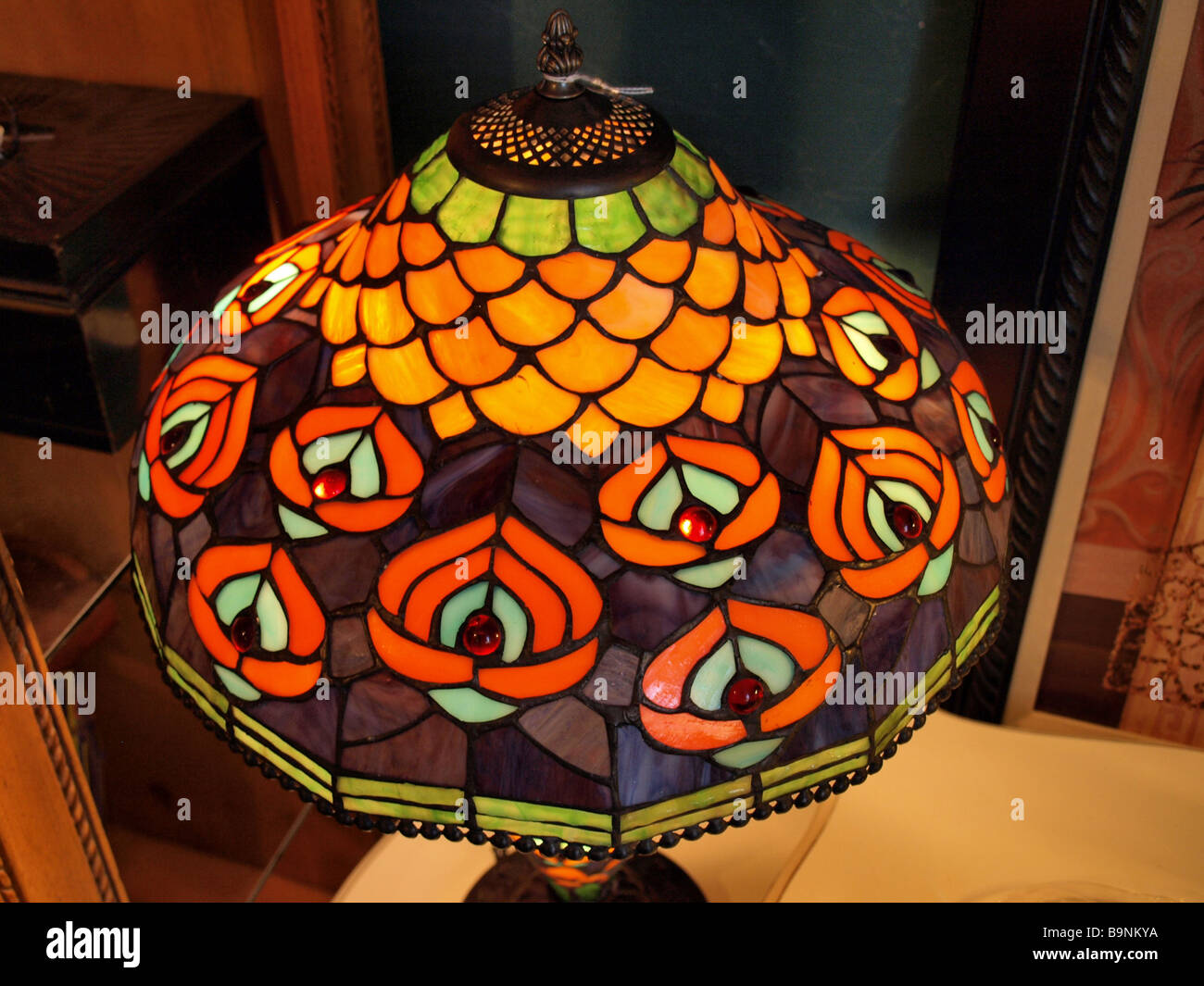 Glass Lamp Art Art Deco Style Stained Glass Lamp Shade From Above With Images Of