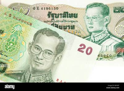 Money Thai currency detail of old and new Thailand 20 baht banknotes Stock Photo: 23355608 - Alamy