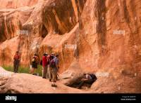 Park Ranger lead hike in the Fiery Furnace Arches National ...
