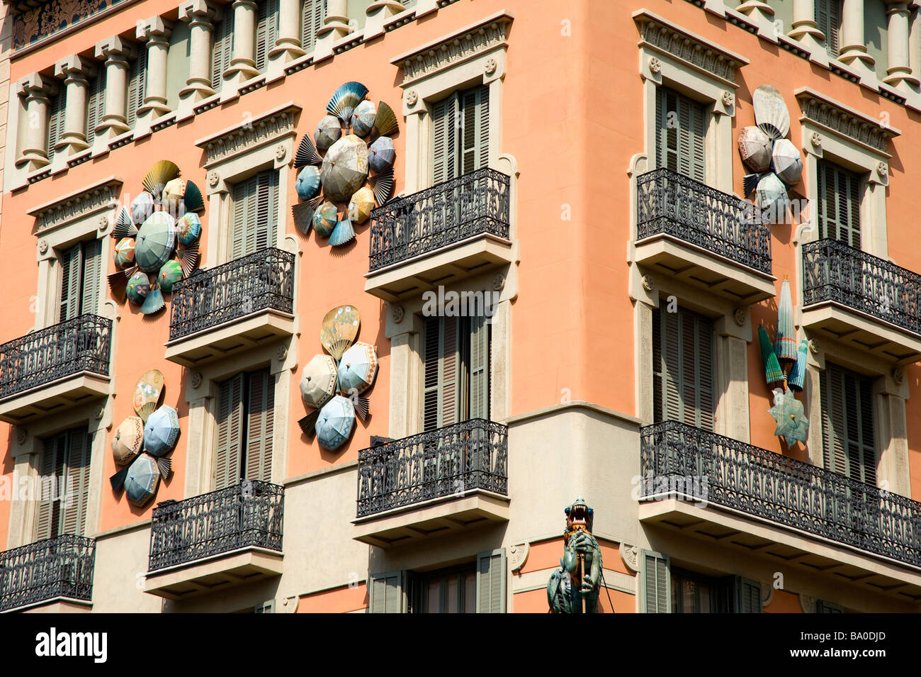 Casa Bruno Modernist Facade Of The Casa Bruno Quadras Barcelona Catalonia