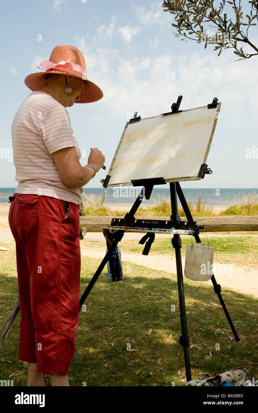 Artist Easel Australia Artist At Ricketts Point Port Phillip Bay Melbourne