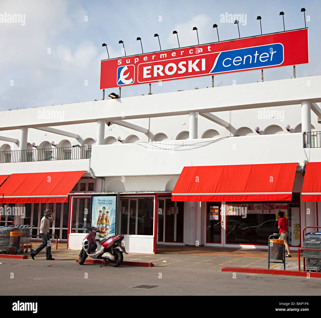Manacor Shopping Center Eroski Supermarket Mallorca Spain Stock Photo: 23841080