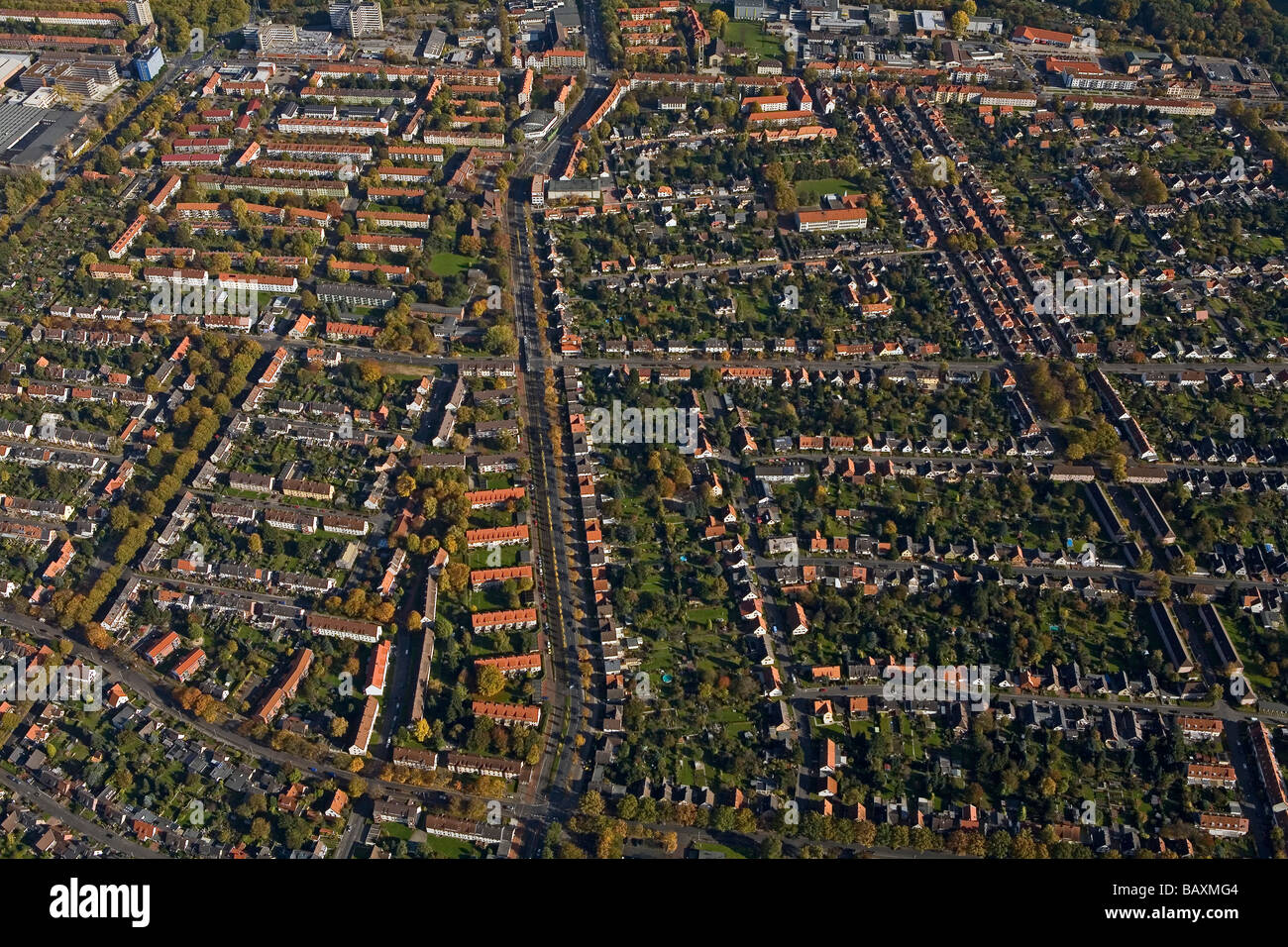 Seelhorster Garten Hannover Aerial View Of Housing Hanover Lower Saxony Northern Germany