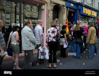 Queue for tickets outside Edinburgh Fringe Festival box ...