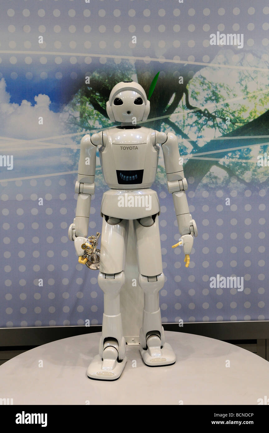 Salon De La Robotique A Humanoid Robot Manufactured By Toyota Displayed At Toyota