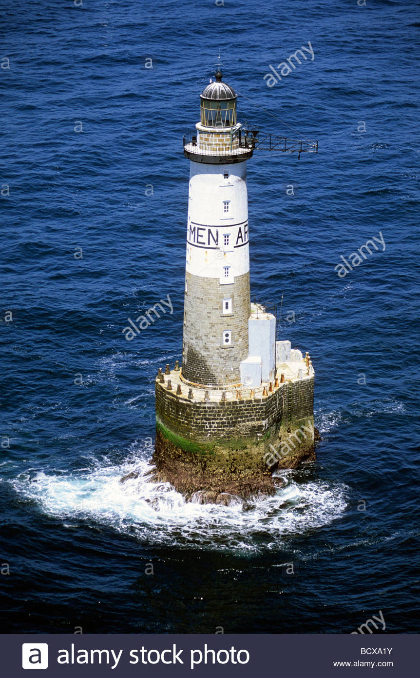 Ar Men Ar Men Lighthouse Brittany France Europe Stock Photo 25164887
