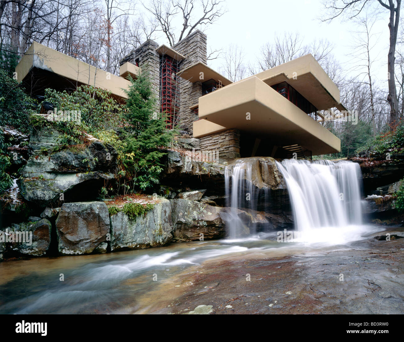 Falling Water House Usa Fallingwater Frank Lloyd Wright Designed Home For The Kaufmann