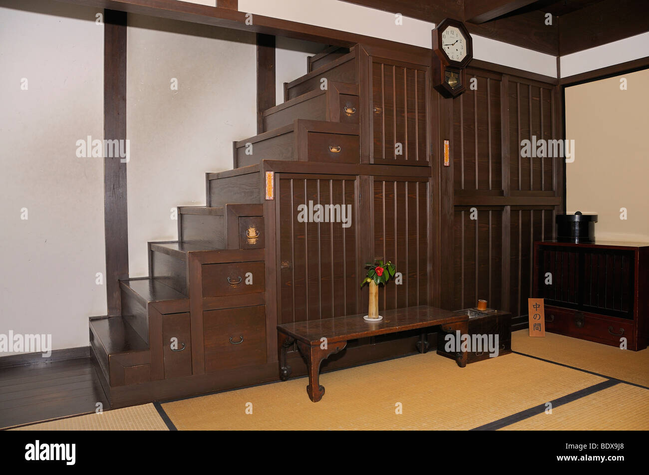 Japanischer Schrank Typical Stair Cupboard In An Old Trading House Now A Museum Nara