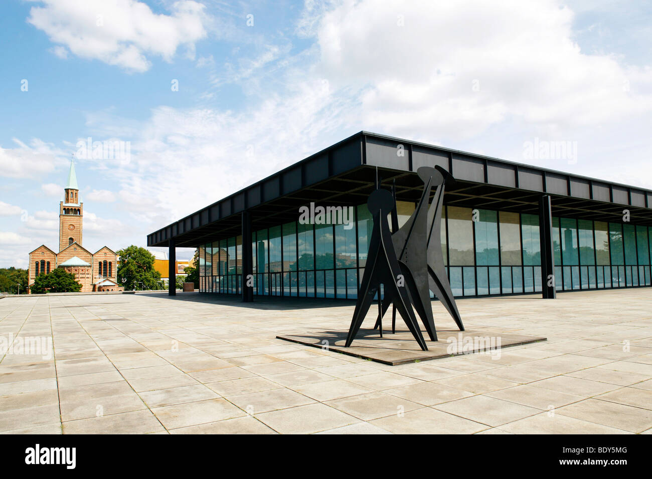 Mies Van Der Rohe Berlin The New National Gallery At The Kulturforum Berlin, Architect Ludwig Stock Photo - Alamy