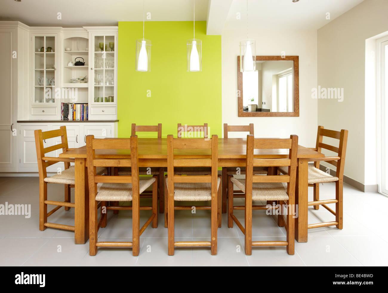 kitchen side extension london terrace oak table skylights velux feature BE4BWD