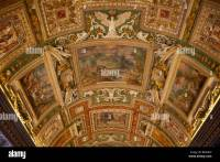 Ceiling painting in a corridor of the Vatican Museums ...